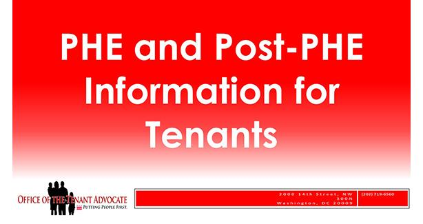 COVID-19 State of Emergency & Tenant Rights/Services